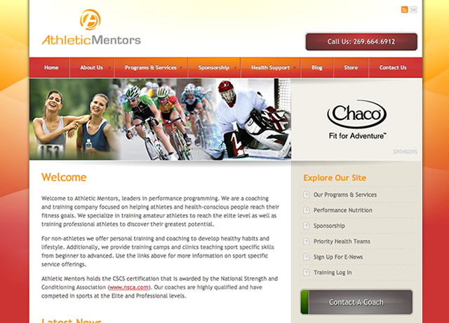 Identity, Print, and Website Design for Athletic Mentors by The Imagination Factory