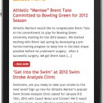 Athletic Mentors Mobile Website Design by The Imagination Factory