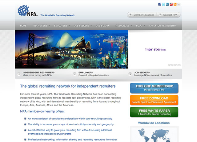 Website Design and Development for NPA Worldwide by The Imagination Factory