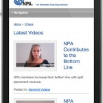 Mobile Website Design for NPA Worldwide by The Imagination Factory