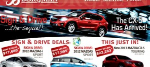 Press Ads, Digital Marketing and Design for Borgman Ford Mazda by The Imagination Factory