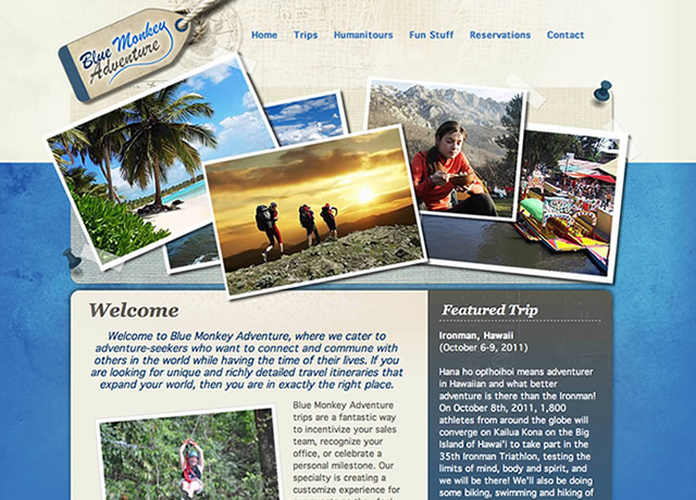 Identitiy Design, Website Design and Development for Blue Monkey Adventure by The Imagination Factory