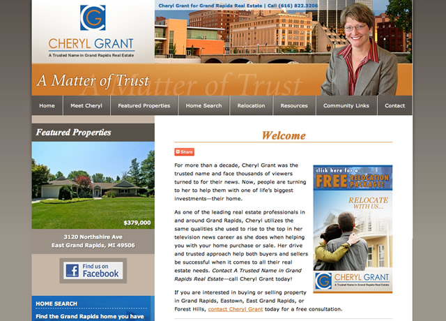 Website Design and Retained Content Generation for Cheryl Grant by The Imagination Factory