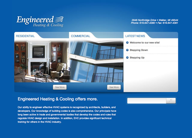 Website Design and Development for Engineered Heating and Cooling by The Imagination Factory