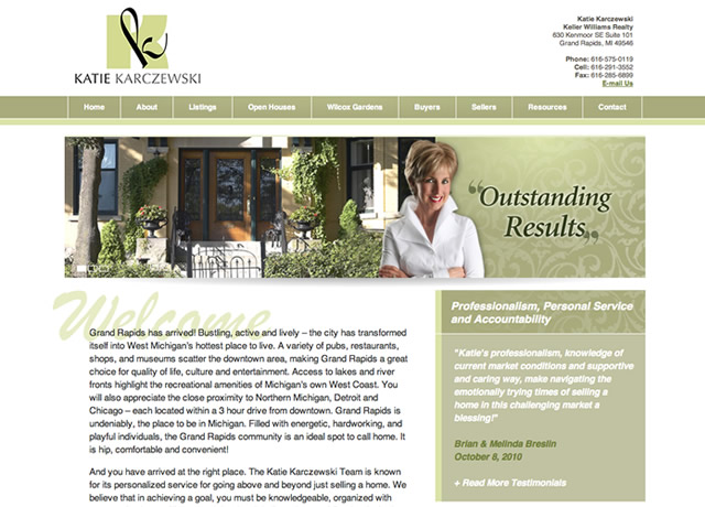 Website Design and Development for Katie K by The Imagination Factory