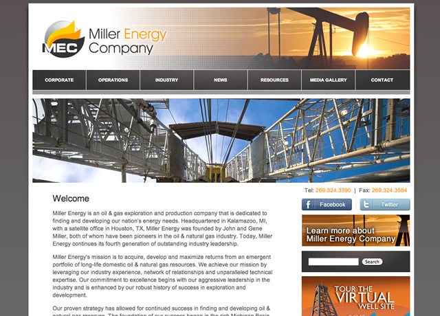 Identity, Print and Web Design for Miller Energy Company by The Imagination Factory