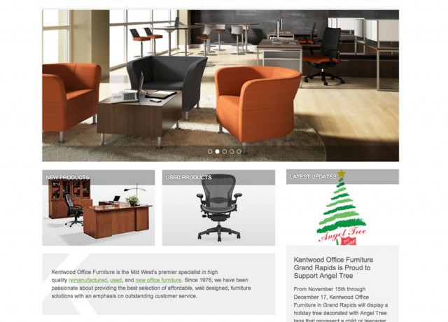 Ideny Website And E Commerce Design For Kentwood Office Furniture A Mid West Based New Used Remanufactured Supplier